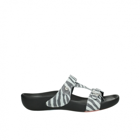 wolky slippers 1000 oconnor 912 zebraprint metallic leer
