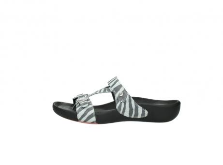 wolky slippers 1000 oconnor 912 zebraprint metallic leer_1