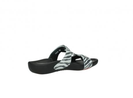 wolky slippers 1000 oconnor 912 zebraprint metallic leer_11