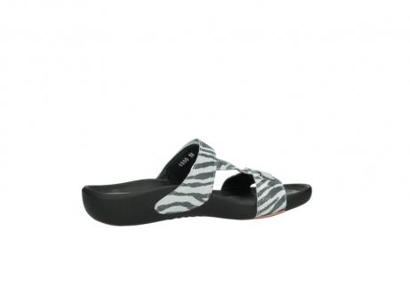 wolky slippers 1000 oconnor 912 zebraprint metallic leer_12