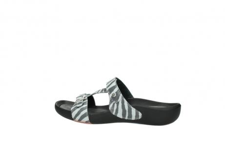 wolky slippers 1000 oconnor 912 zebraprint metallic leer_2
