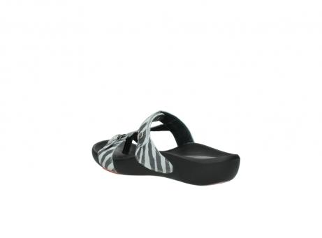 wolky slippers 1000 oconnor 912 zebraprint metallic leer_4