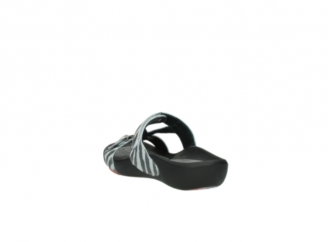 wolky slippers 1000 oconnor 912 zebraprint metallic leer_5