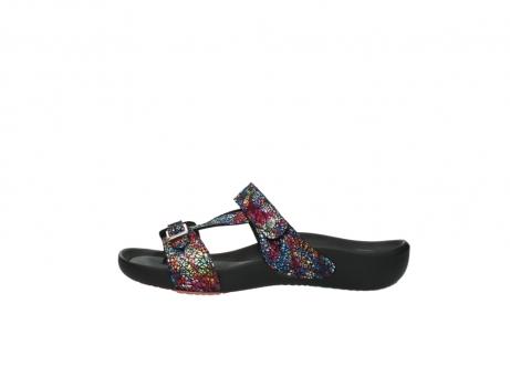 wolky slippers 1010 kukana 497 multi zwart craquele leer_1