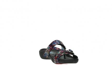 wolky slippers 1010 kukana 497 multi zwart craquele leer_17