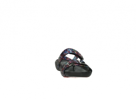 wolky slippers 1010 kukana 497 multi zwart craquele leer_18