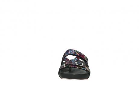 wolky slippers 1010 kukana 497 multi zwart craquele leer_19