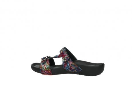 wolky slippers 1010 kukana 497 multi zwart craquele leer_2