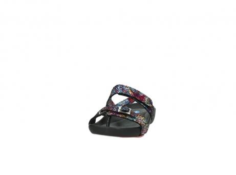 wolky slippers 1010 kukana 497 multi zwart craquele leer_20