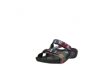 wolky slippers 1010 kukana 497 multi zwart craquele leer_21