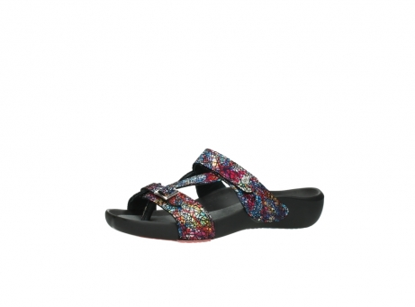 wolky slippers 1010 kukana 497 multi zwart craquele leer_23