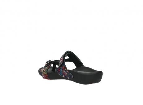 wolky slippers 1010 kukana 497 multi zwart craquele leer_4