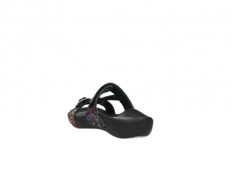wolky slippers 1010 kukana 497 multi zwart craquele leer_5