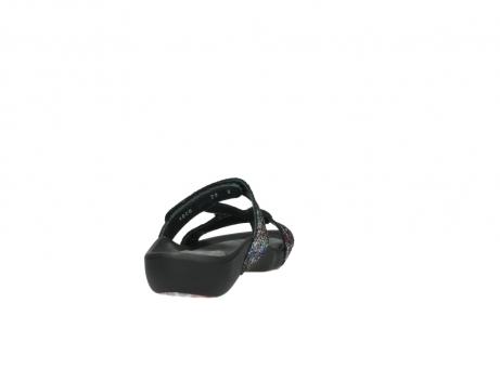 wolky slippers 1010 kukana 497 multi zwart craquele leer_8