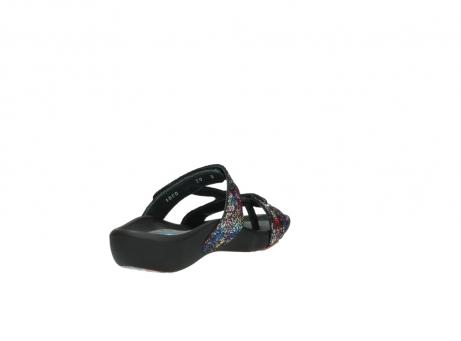 wolky slippers 1010 kukana 497 multi zwart craquele leer_9