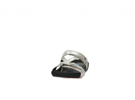 wolky slippers 1010 kukana 662 bisque goud slangenprint leer_20