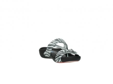 wolky pantoletten 1010 kukana 912 zebradruck metallic leder_17