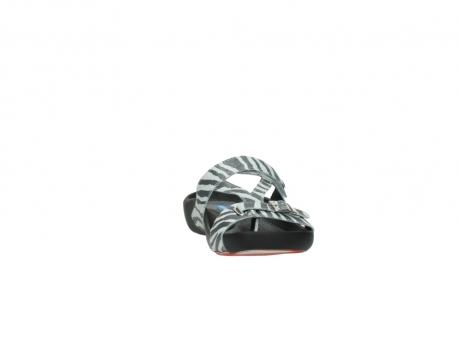 wolky pantoletten 1010 kukana 912 zebradruck metallic leder_18