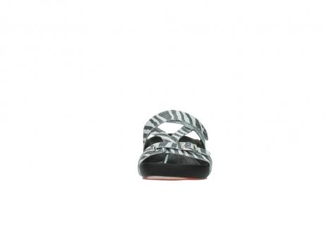 wolky pantoletten 1010 kukana 912 zebradruck metallic leder_19