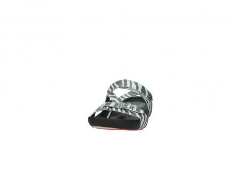 wolky pantoletten 1010 kukana 912 zebradruck metallic leder_20