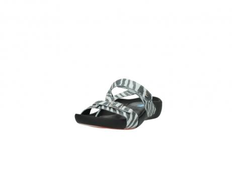 wolky pantoletten 1010 kukana 912 zebradruck metallic leder_21