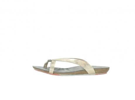 wolky slippers 1025 sunshine 314 goud leer_1