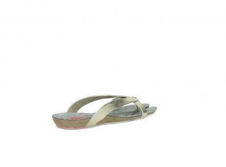 wolky slippers 1025 sunshine 314 goud leer_10