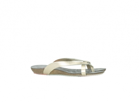 wolky slippers 1025 sunshine 314 goud leer_14