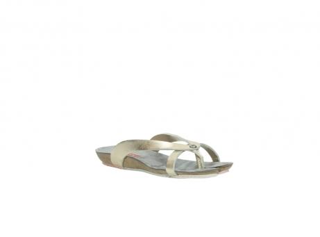 wolky slippers 1025 sunshine 314 goud leer_16