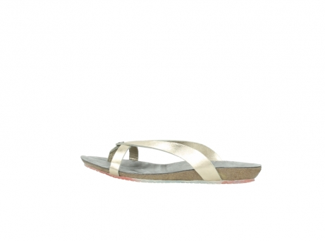 wolky slippers 1025 sunshine 314 goud leer_2