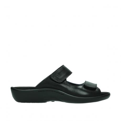 wolky slippers 1301 nepeta 300 zwart leer