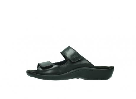 wolky slippers 1301 nepeta 300 zwart leer_1