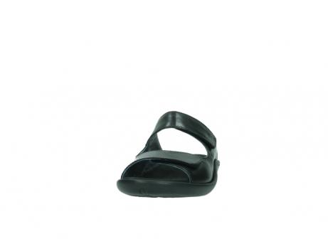 wolky slippers 1301 nepeta 300 zwart leer_20
