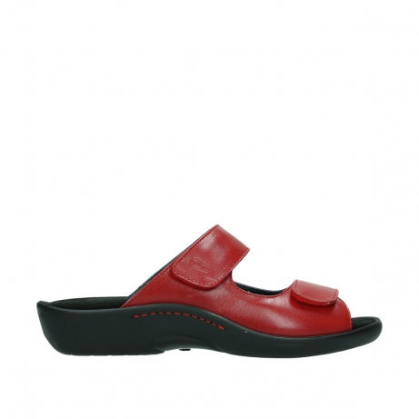 wolky slippers 1301 nepeta 350 rood leer