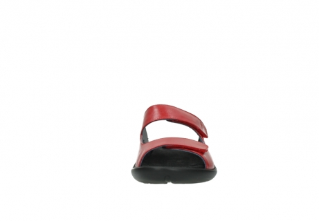 wolky slippers 1301 nepeta 350 rood leer_19