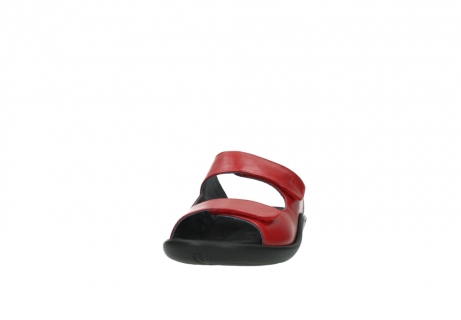 wolky slippers 1301 nepeta 350 rood leer_20
