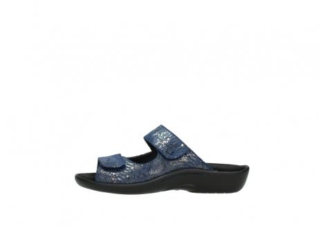 wolky slippers 1301 nepeta 680 blauw slangenprint leer_1