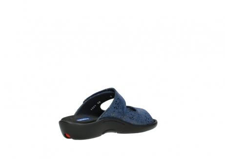 wolky slippers 1301 nepeta 680 blauw slangenprint leer_10