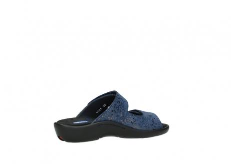 wolky slippers 1301 nepeta 680 blauw slangenprint leer_11