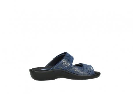 wolky slippers 1301 nepeta 680 blauw slangenprint leer_12