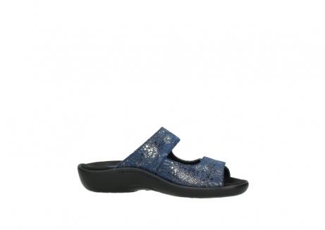 wolky slippers 1301 nepeta 680 blauw slangenprint leer_14