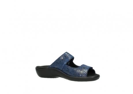 wolky slippers 1301 nepeta 680 blauw slangenprint leer_15