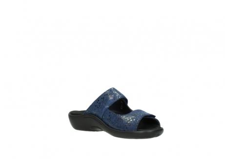 wolky slippers 1301 nepeta 680 blauw slangenprint leer_16