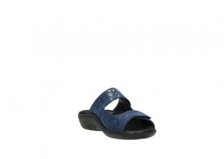 wolky slippers 1301 nepeta 680 blauw slangenprint leer_17