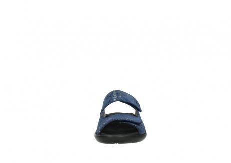 wolky slippers 1301 nepeta 680 blauw slangenprint leer_19