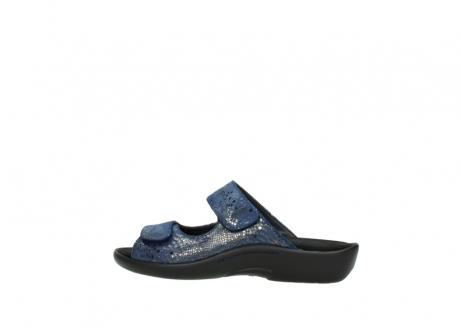 wolky slippers 1301 nepeta 680 blauw slangenprint leer_2