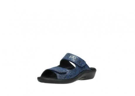 wolky slippers 1301 nepeta 680 blauw slangenprint leer_22