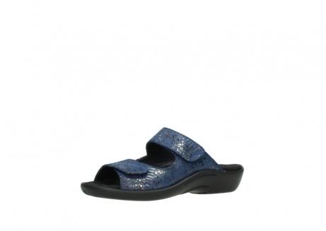 wolky slippers 1301 nepeta 680 blauw slangenprint leer_23