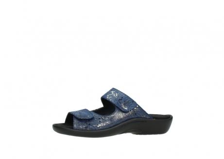 wolky slippers 1301 nepeta 680 blauw slangenprint leer_24
