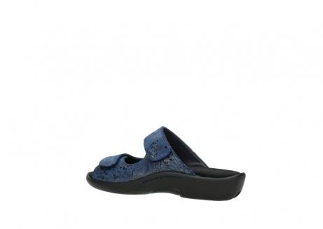 wolky slippers 1301 nepeta 680 blauw slangenprint leer_3